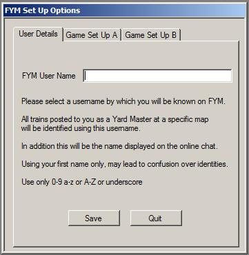 Username Options Menu